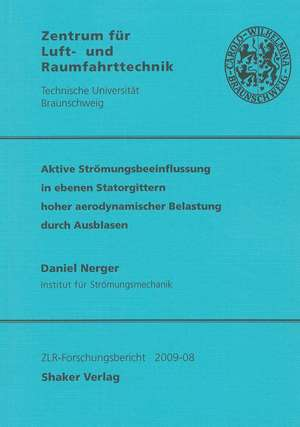 Aktive Strömungsbeeinflussung in ebenen Statorgittern hoher aerodynamischer Belastung durch Ausblasen de Daniel Nerger