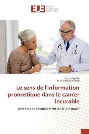 Le Sens de L'Information Pronostique Dans Le Cancer Incurable