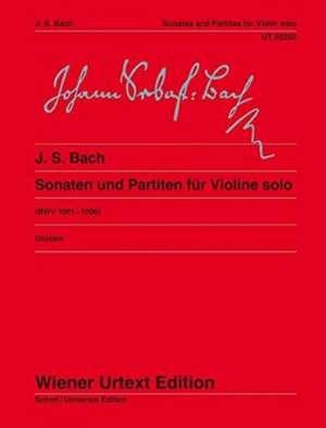 Sonaten und Partiten für Violine solo de Johann Sebastian Bach