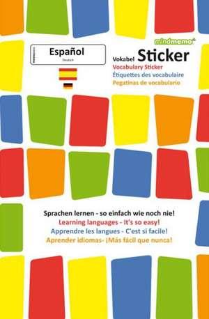 mindmemo Vokabel Sticker - Grundwortschatz Spanisch / Deutsch - 280 Vokabel Aufkleber - Zusammenfassung de Fischer Henry