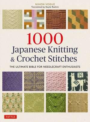 1000 Japanese Knitting & Crochet Stitches imagine