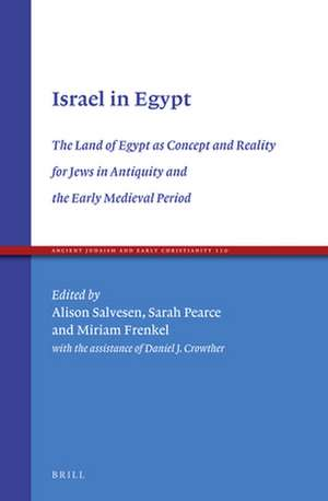 Israel in Egypt: The Land of Egypt as Concept and Reality for Jews in Antiquity and the Early Medieval Period de Alison Salvesen