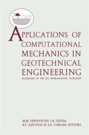 Applications of Computational Mechanics in Geotechnical Engineering de Fernandes Matos