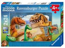 The Good Dinosaur 2 X 24 PC Puzzles:  A Daring Adventure Game