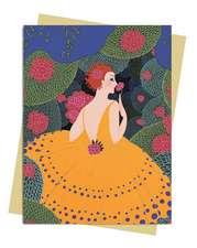Erte: Winter Flowers Greeting Card