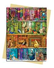 Aimee Stewart: A Stitch in Time Bookshelf Greeting Card
