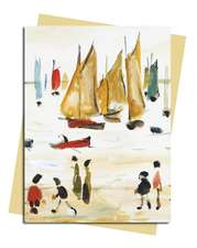 L.S. Lowry: Yachts Greeting Card: Pack of 6