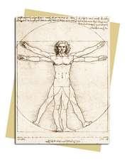 Leonardo da Vinci: Vitruvian Man Greeting Card: Pack of 6