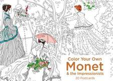 Color Your Own Monet and the Impressionists 20 Postcards