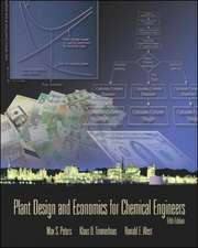 Plant Design and Economics for Chemical Engineers (Int'l Ed)