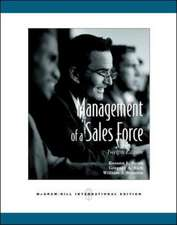 Management of a Sales Force (Int'l Ed)