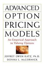 Advanced Option Pricing Models