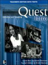 Quest Intro Level Listening and Speaking Teacher's Edition