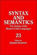Syntax and Semantics, Volume 23 Tr Ppr