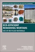 Eco-efficient Rendering Mortars