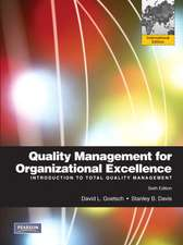 Quality Management for Organizational Excellence: Introduction to Total Quality: International Edition