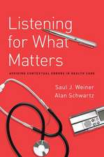Listening for What Matters: Avoiding Contextual Errors in Health Care