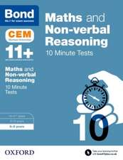 Bond 11+: Maths & Non-verbal Reasoning: CEM 10 Minute Tests: 8-9 years