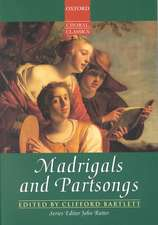 Madrigals and Partsongs