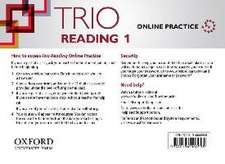 Trio Reading: Level 1: Online Practice Student Access Card