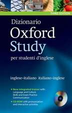 Dizionario Oxford Study per studenti d'inglese: Updated edition of this bilingual dictionary specifically written for Italian-speaking learners of English