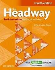 New Headway: Pre-Intermediate. Workbook + iChecker with Key