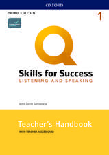 Q: Skills for Success: Level 1: Listening and Speaking Teacher's Handbook with Teacher's Access Card