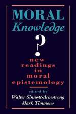 Moral Knowledge?