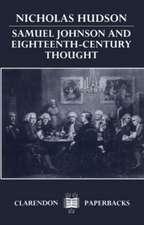Samuel Johnson and Eighteenth-Century Thought