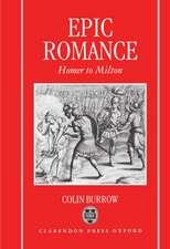 Epic Romance: Homer to Milton