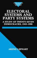 Electoral Systems and Party Systems: A Study of Twenty-Seven Democracies, 1945-1990