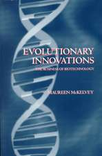 Evolutionary Innovations ' the Business of Biotechnoloy ':  The Partitioning of Urban Space
