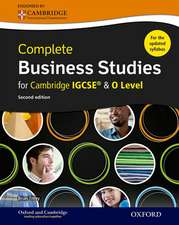 Complete Business Studies for Cambridge IGCSE® and O Level: Second Edition