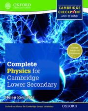 Complete Physics for Cambridge Lower Secondary Student Book: For Cambridge Checkpoint and beyond
