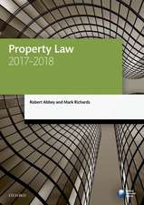Property Law 2017-2018
