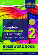 Complete Mathematics for Cambridge Lower Secondary Homework Book 2 (Pack of 15): For Cambridge Checkpoint and beyond