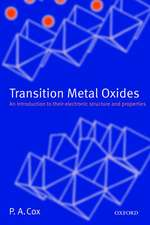Transition Metal Oxides: An Introduction to Their Electronic Structure and Properties