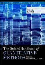 The Oxford Handbook of Quantitative Methods in Psychology: Vol. 2: Statistical Analysis