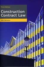 Adriaanse, J: Construction Contract Law