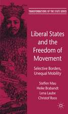 Liberal States and the Freedom of Movement: Selective Borders, Unequal Mobility