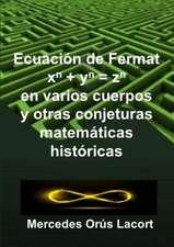 Ecuaci?n de Fermat en varios cuerpos y otras conjeturas  matem?ticas hist?ricas