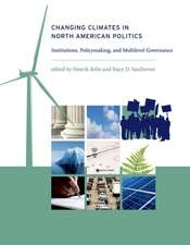 Changing Climates in North American Politics – Institutions, Policymaking, and Multilevel Gover