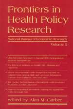Frontiers in Health Policy Research V 5