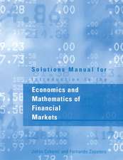 Introduction to the Economics and Mathematics of Financial Markets – Student Manual