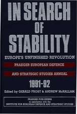 In Search of Stability:  Europe's Unfinished Revolution