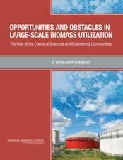 Opportunities and Obstacles in Large-Scale Biomass Utilization: The Role of the Chemical Sciences and Engineering Communities: A Workshop Summary