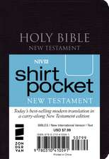 NIV, Shirt-Pocket New Testament, Leather-Look, Black