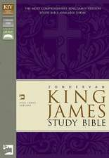 KJV Zondervan Study Bible, Bonded Leather, Black, Red Letter Edition