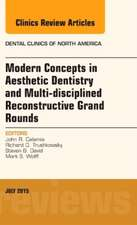 Modern Concepts in Aesthetic Dentistry and Multi-disciplined Reconstructive Grand Rounds, An Issue of Dental Clinics of North America