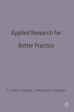 Applied Research for Better Practice